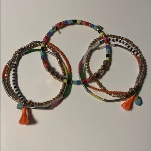 3 Colorful Keep Collective bracelets
